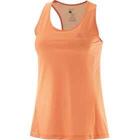 Salomon Agile Running Shirt sleeveless Women orange